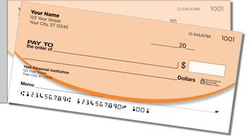 Oval Line Side Tear Personalized Checks