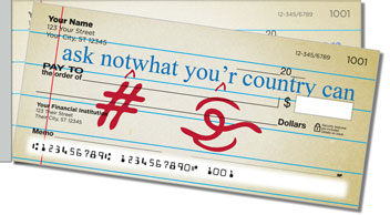 Proofreader Side Tear Personalized Checks
