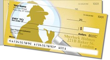 Sherlock Holmes Side Tear Personalized Checks