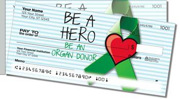 Organ Donation Side Tear Design Checks