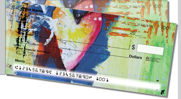 Hearts and Stars Side Tear Personalized Checks