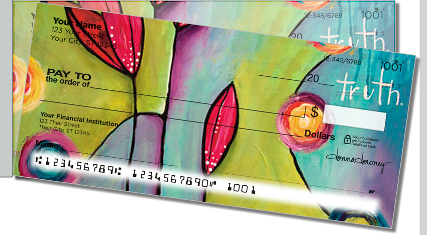 Canvas Painting Side Tear Personal Checks