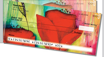Canvas Painting Side Tear Personalized Checks