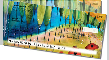 Canvas Painting Side Tear Theme Checks