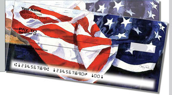 Americana Painting Side Tear Personalized Checks