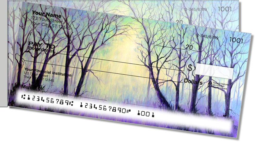 Misty Tree Side Tear Personal Checks