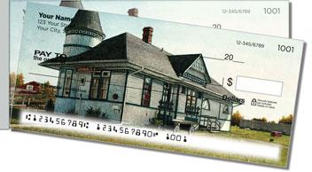 Railway Stations Side Tear Personalized Checks