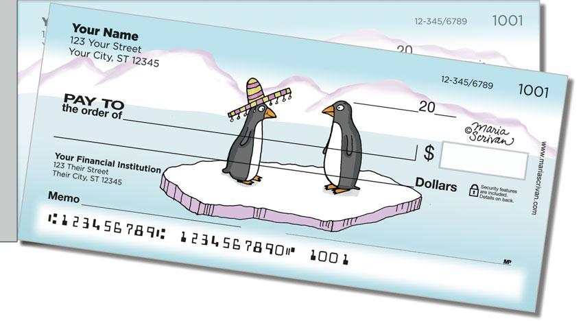 Scrivan Penguins Side Tear Personal Checks