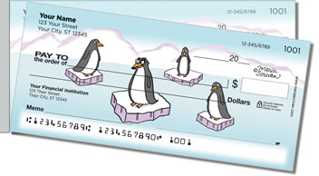 Scrivan Penguins Side Tear Design Checks