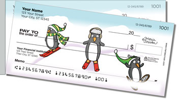 Scrivan Penguins Side Tear Personalized Checks