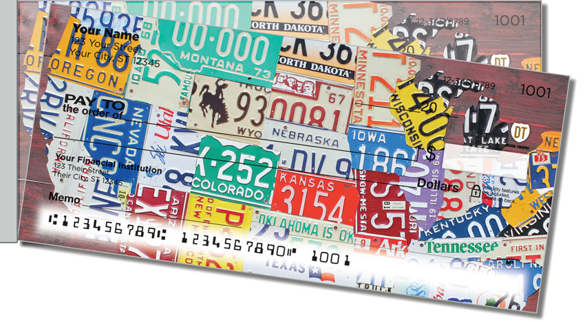 California License Plate Side Tear Personal Checks