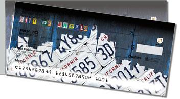 California License Plate Side Tear Personalized Checks