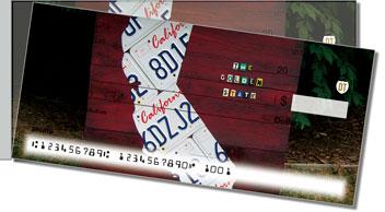 California License Plate Side Tear Theme Checks