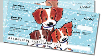 Brittany Spaniel Series Side Tear Personalized Checks