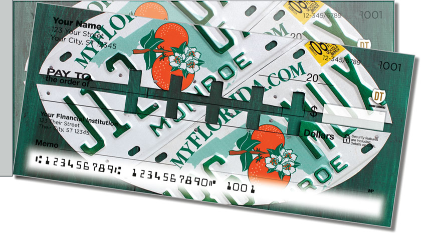 Florida License Plate Side Tear Personal Checks