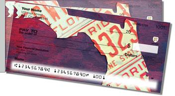 Florida License Plate Side Tear Design Checks