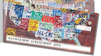 Florida License Plate Side Tear Theme Checks