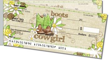 Cowgirl Happy Side Tear Design Checks