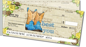 Cowgirl Happy Side Tear Personalized Checks