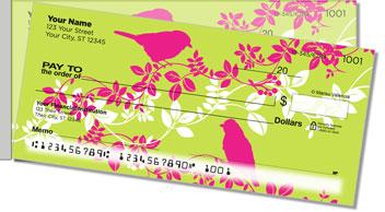 Bird on Branch Side Tear Personalized Checks