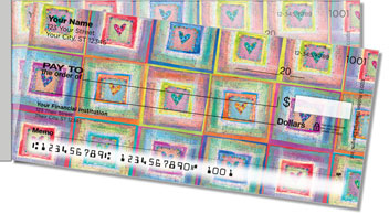 Patchwork Heart Side Tear Design Checks