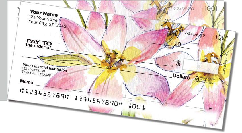 Fruits and Flowers Side Tear Personal Checks