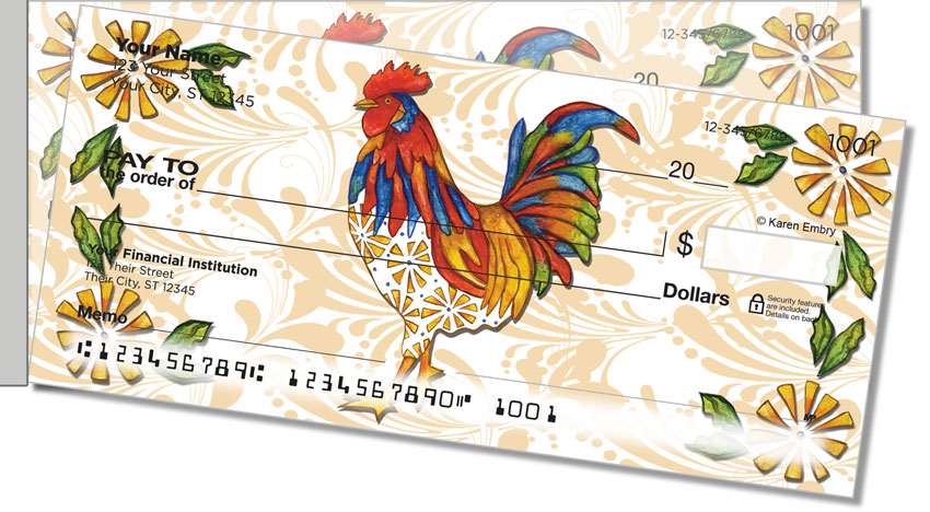 Embry Rooster Side Tear Personal Checks