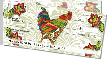 Embry Rooster Side Tear Personalized Checks