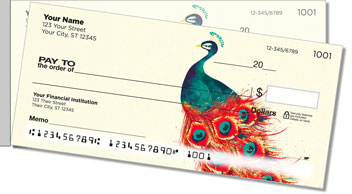 Feather Frenzy Side Tear Personalized Checks
