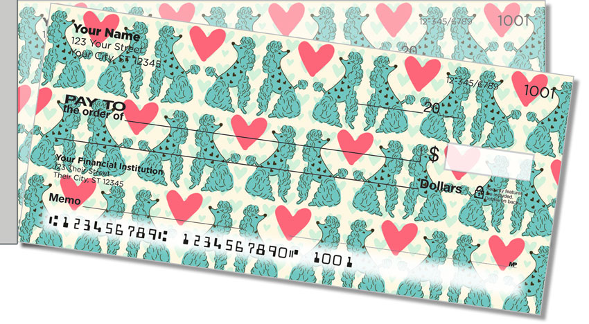 Primped Poodles Side Tear Personal Checks