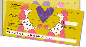 Primped Poodles Side Tear Personalized Checks