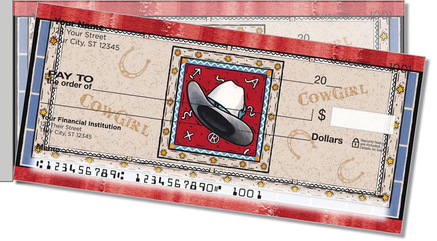Western Hats Side Tear Personal Checks