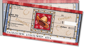 Western Hats Side Tear Personalized Checks