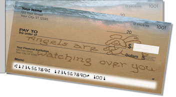 Inspirational Sand Scribbles Side Tear Personalized Checks