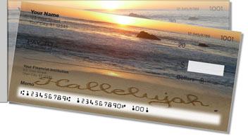 Inspirational Sand Scribbles Side Tear Theme Checks