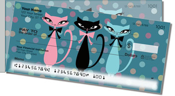 Kitty Galore Side Tear Design Checks