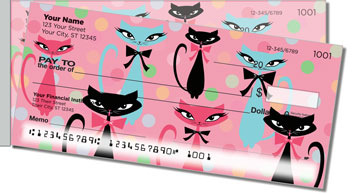 Kitty Galore Side Tear Personalized Checks