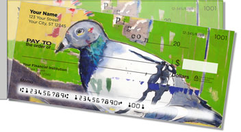 Pigeons Side Tear Personalized Checks