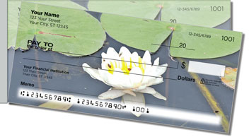 Water Lily Side Tear Personalized Checks