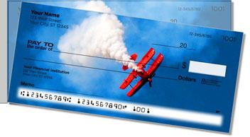 Aerobatic Air Show Side Tear Personalized Checks