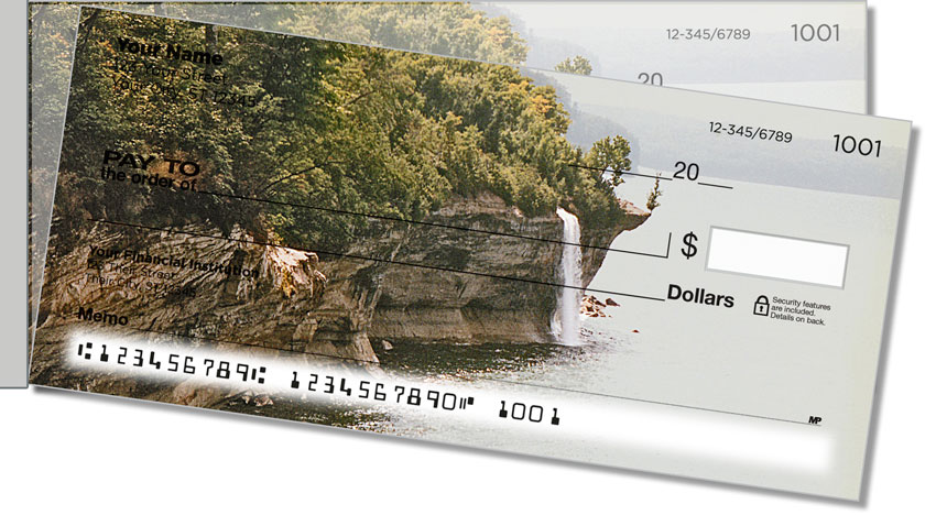 Waterfalls in Paradise Side Tear Personal Checks