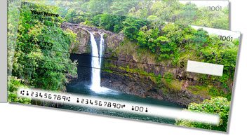 Waterfalls in Paradise Side Tear Personalized Checks