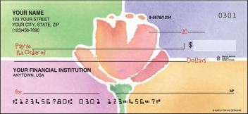 Watercolors Flowers Personalized Checks